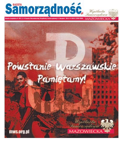 11 numer Gazety Samorządność - Powstanie Warszawskie