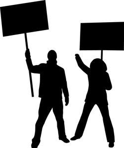 Protest  przed siedzibą HGW